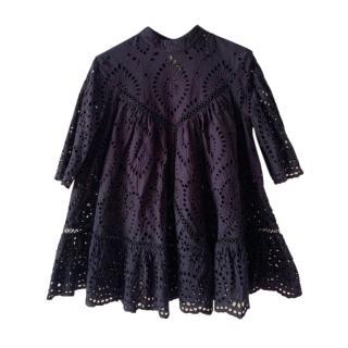 Zimmermann Black Lace Wide Line Blouse