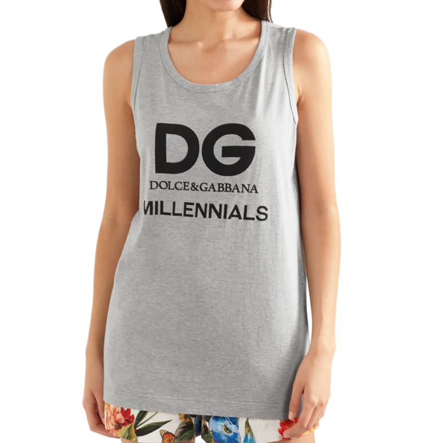 Dolce & Gabbana DG Millennials Grey Vest