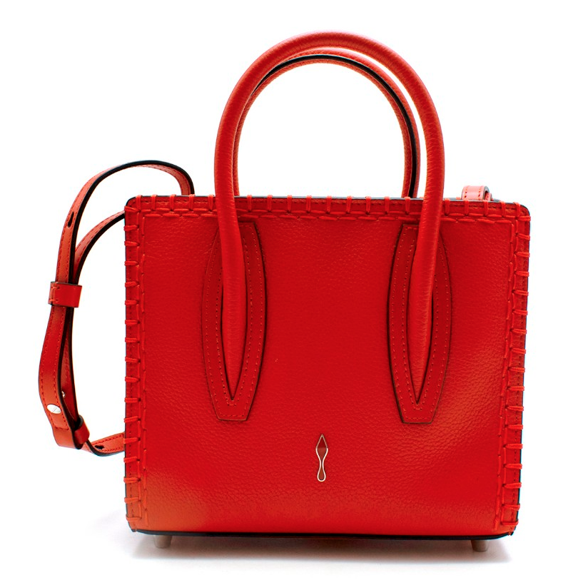 Christian Louboutin Red Leather & Suede Paloma Bag