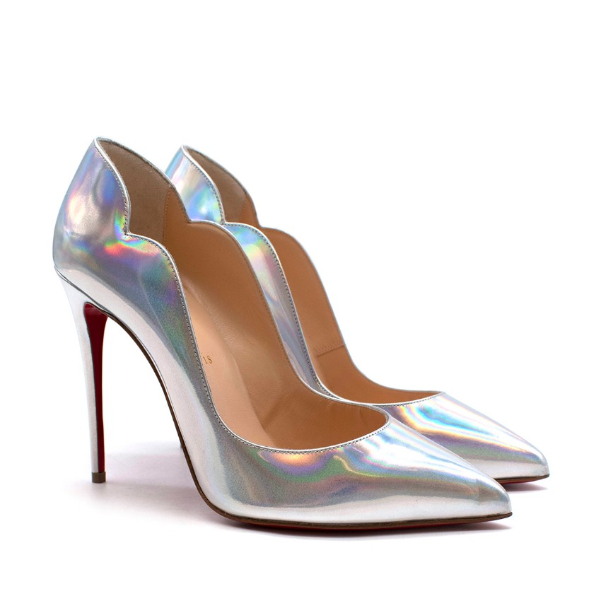 Christian Louboutin Silver Holographic Pumps