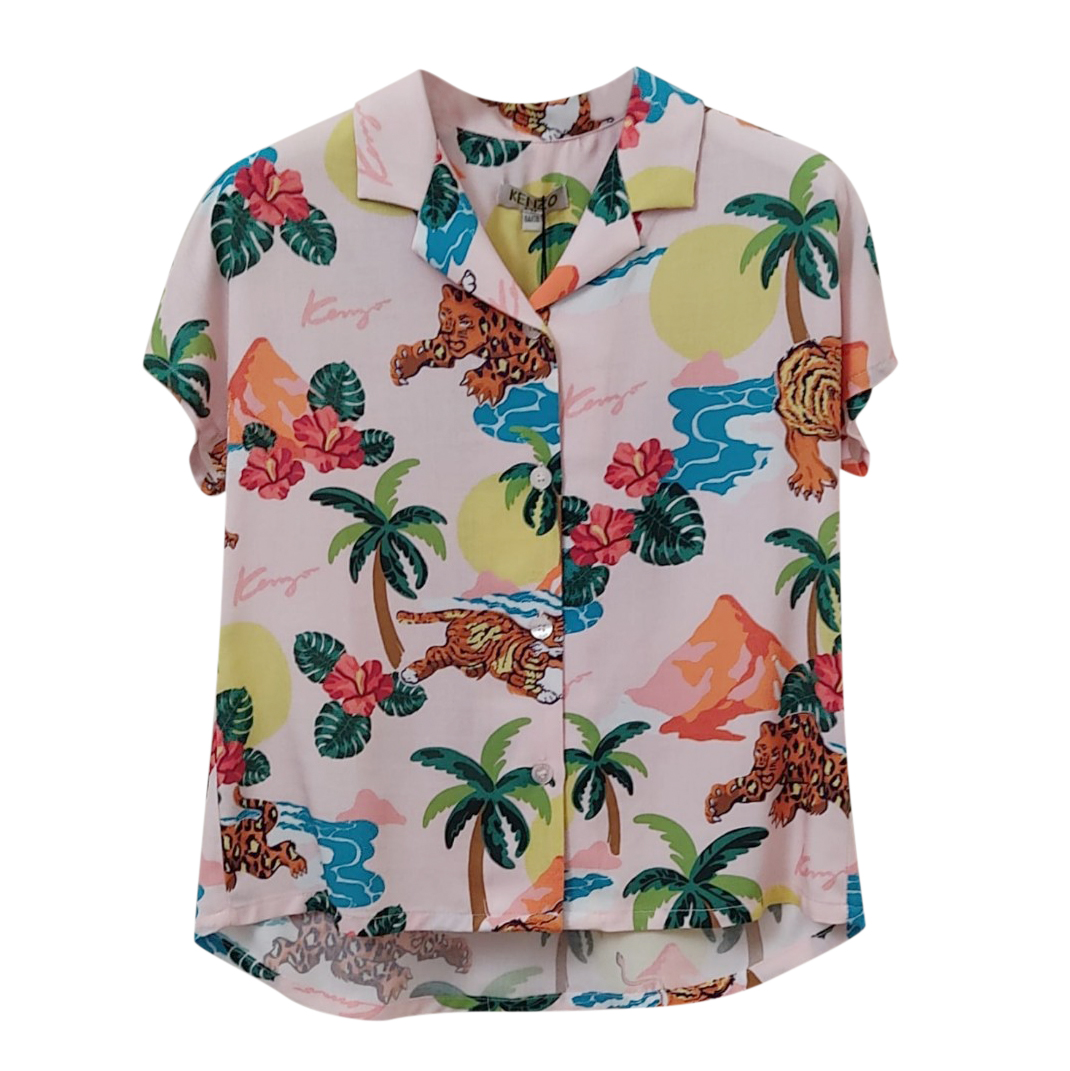 Kenzo Kids 6A Jungle Print Shirt