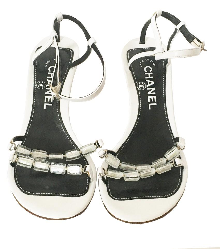 Chanel Embellished Strappy VIntage Sandals