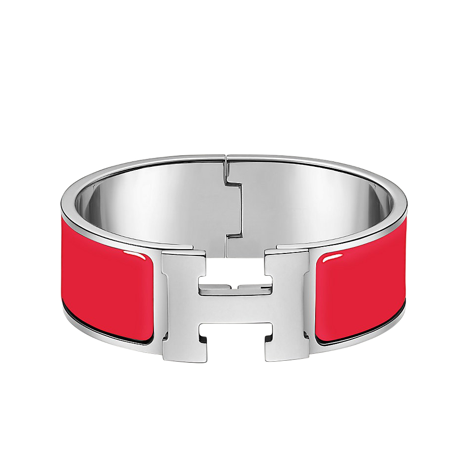 Hermes Rouge Bandana Enamel Clic H GM PHW