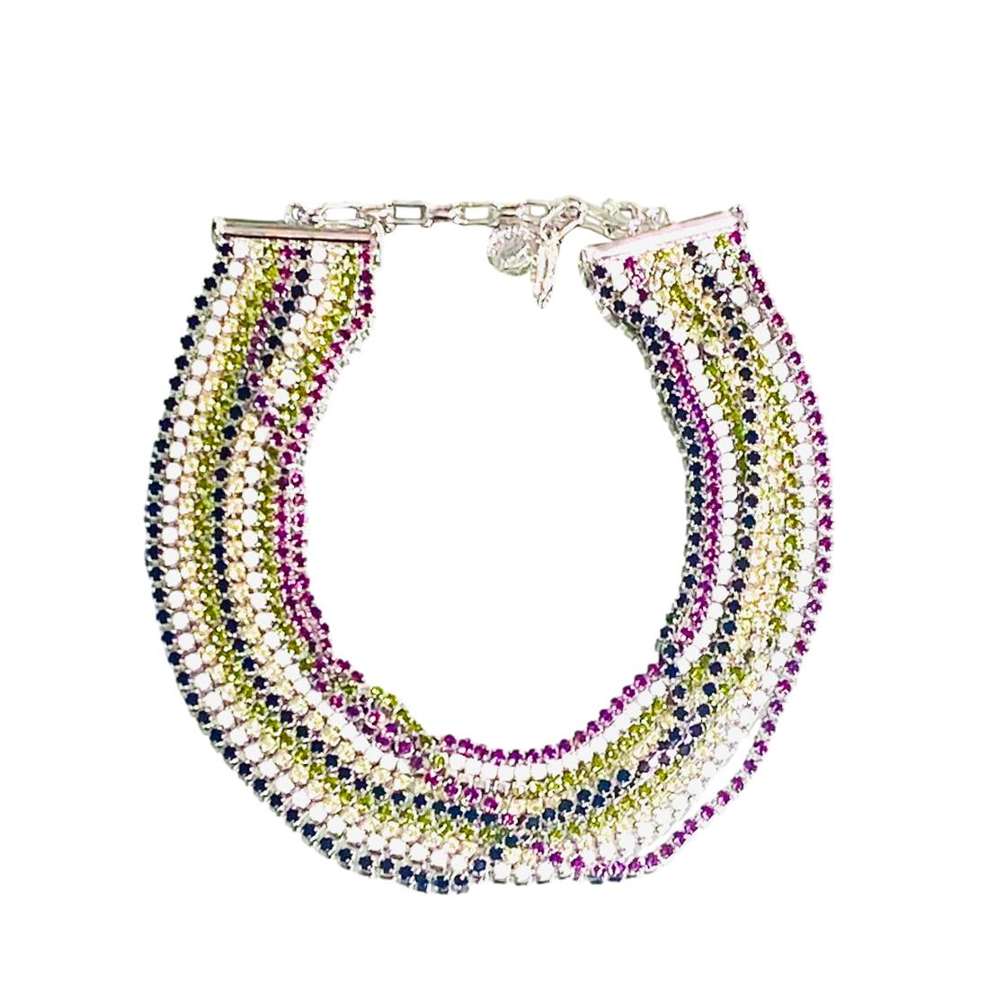Daniel Swarovski Multicoloured Crystal Necklace