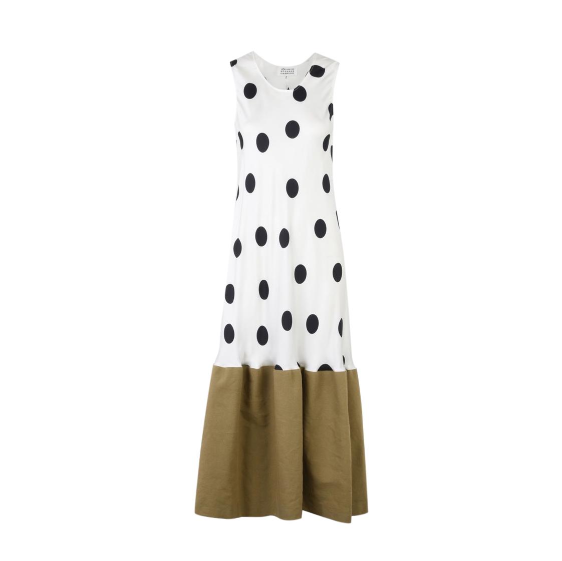 Maison Margiela Contrast Hem Polka Dot Dress