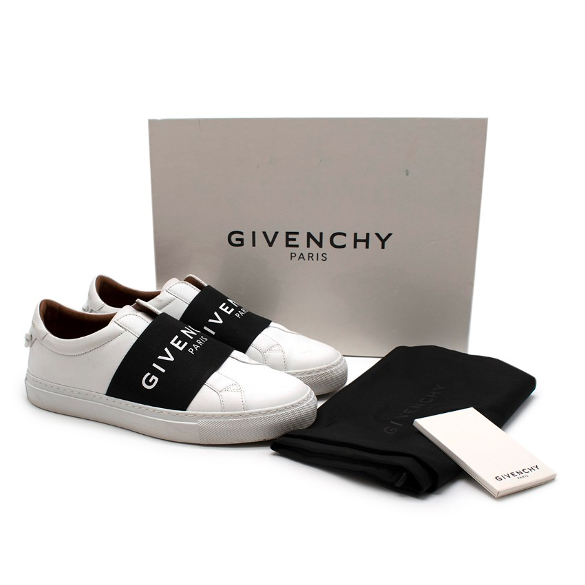Givenchy Urban Street White & Black Leather Sneakers