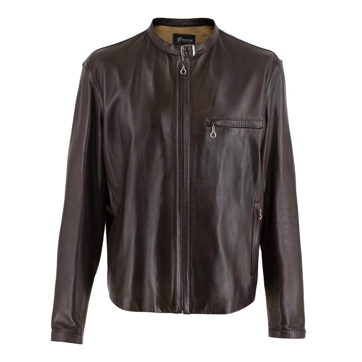 Gerard Sene Brown Leather Jacket
