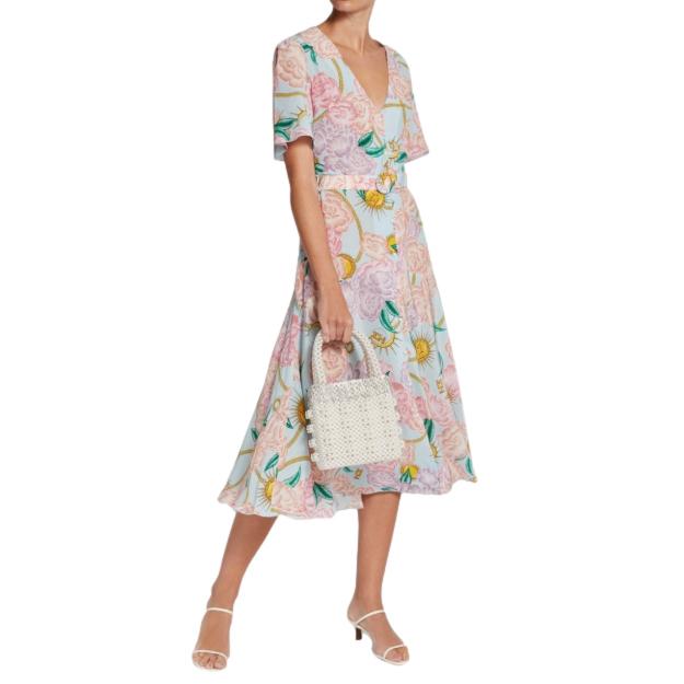 Hayley Menzies Luna Floral Midi Dress