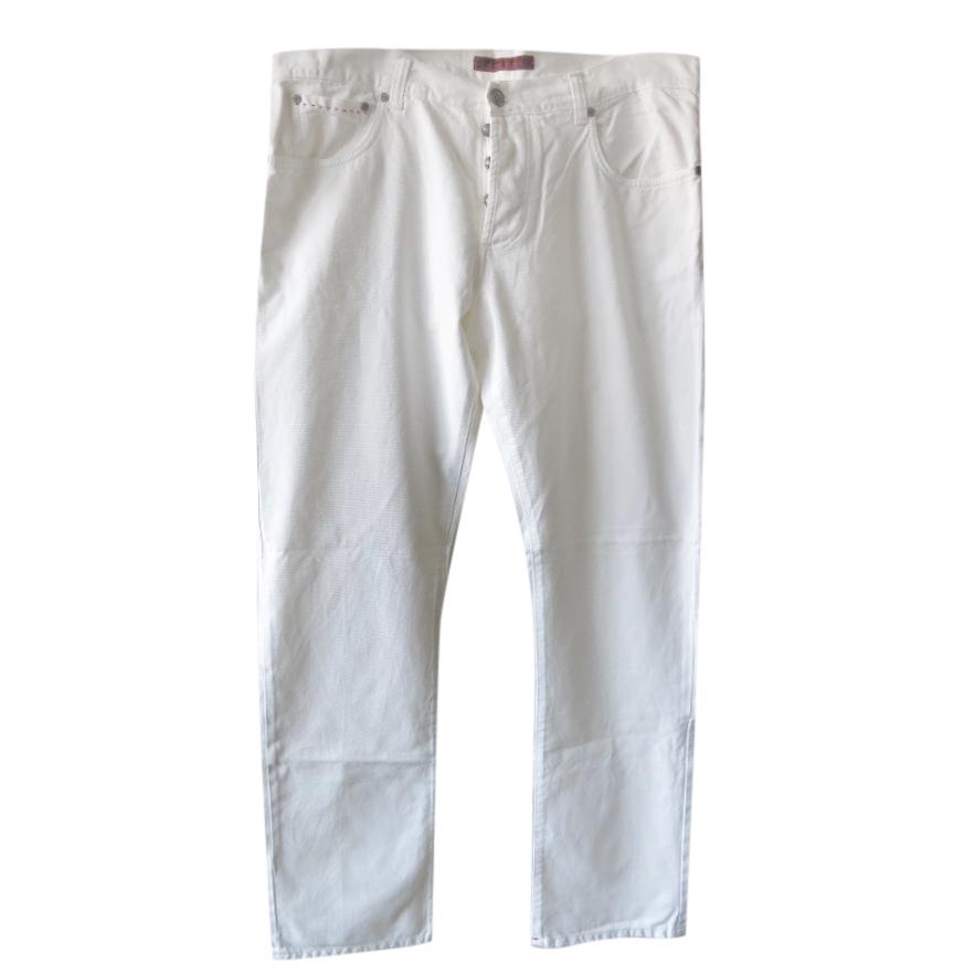 Isaia Kiton White Classic Men's Jeans