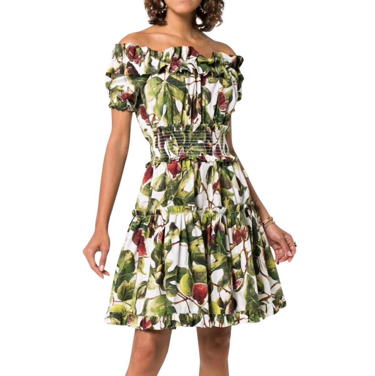 Dolce & Cotton Fig Tiered Off-Shoulder Dress