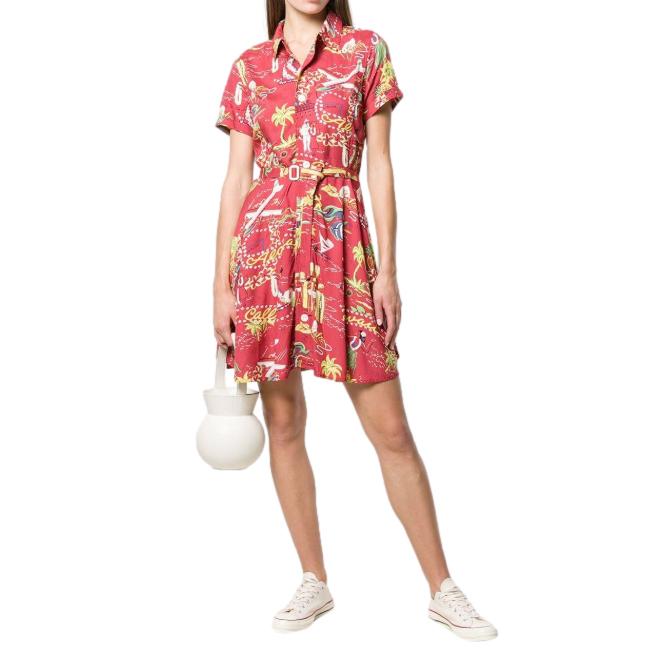 Polo Ralph Lauren Tropical Print Shirt Dress