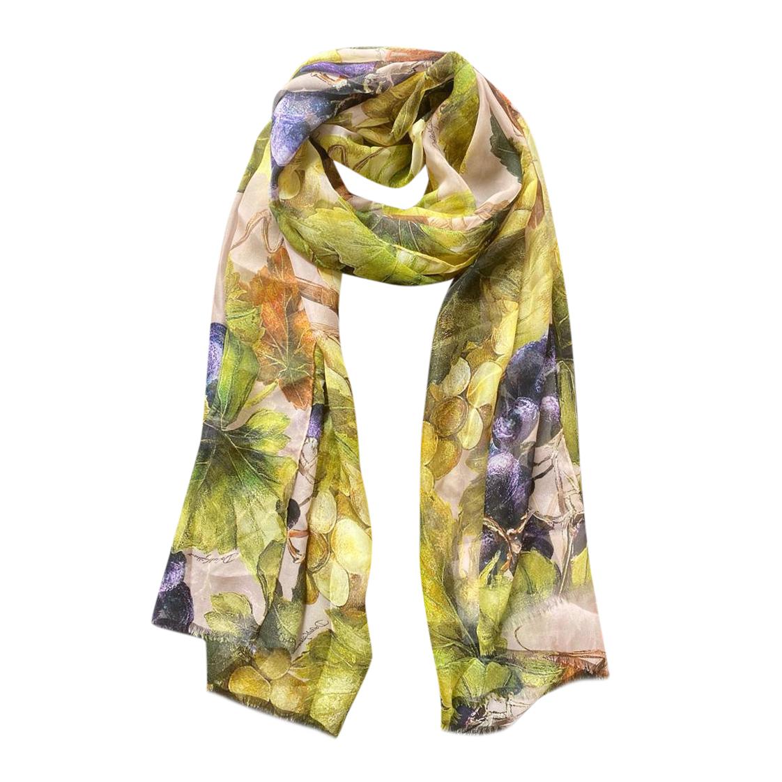 Dolce & Gabbana Floral Print Wrap Scarf