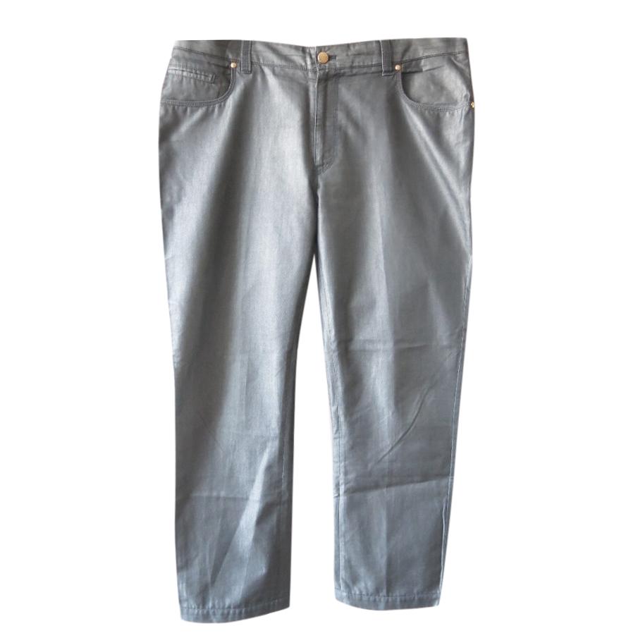 Zilli Vintage Style Grey Cotton & Silk Pants