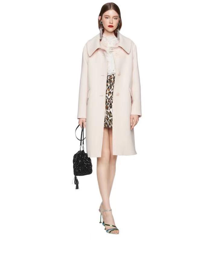Miu Miu Dusty Pink Wool Coat