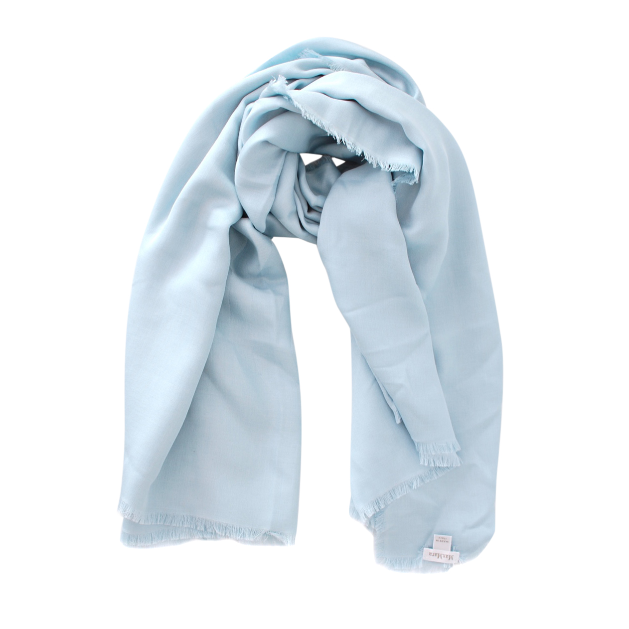 Max Mara Baby Blue Silk & Cotton Shawl