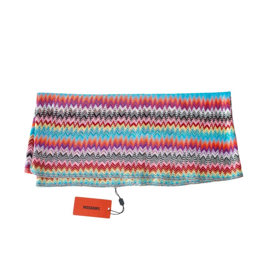 Missoni Multicoloured Long Knit Scarf