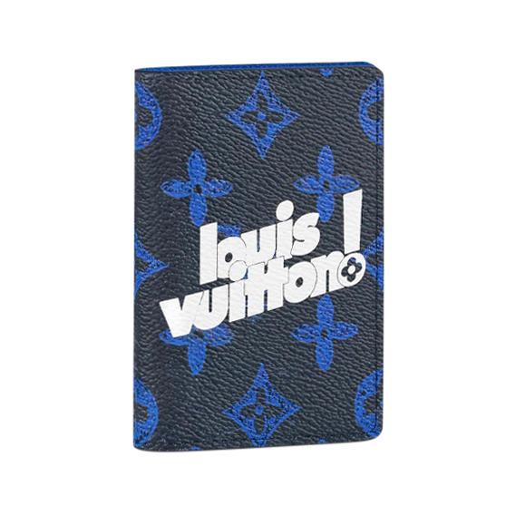 Louis Vuitton Pocket Organizer Monogram Blue