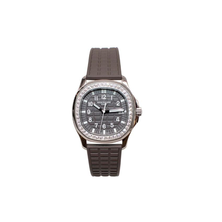 Patek Philippe Taupe Aquanaut Diamond Bezel Polymer Quartz Watch