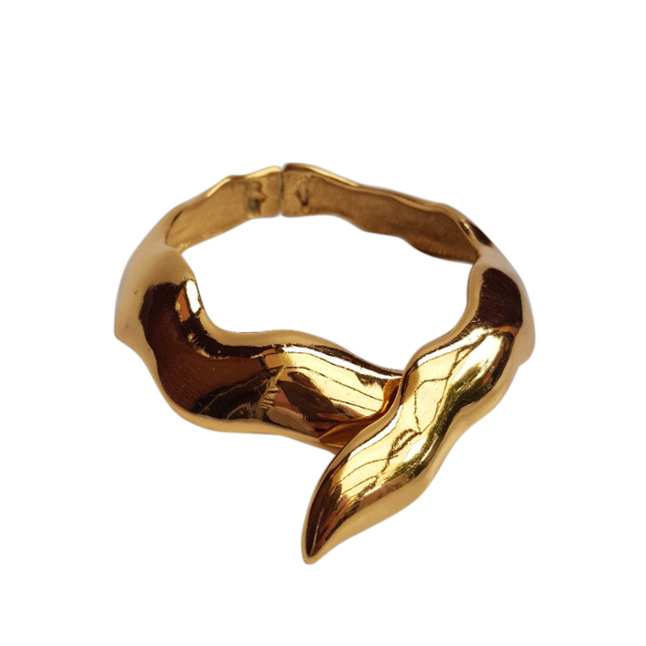 Yves Saint Laurent Vintage Gold Tone Collar Necklace