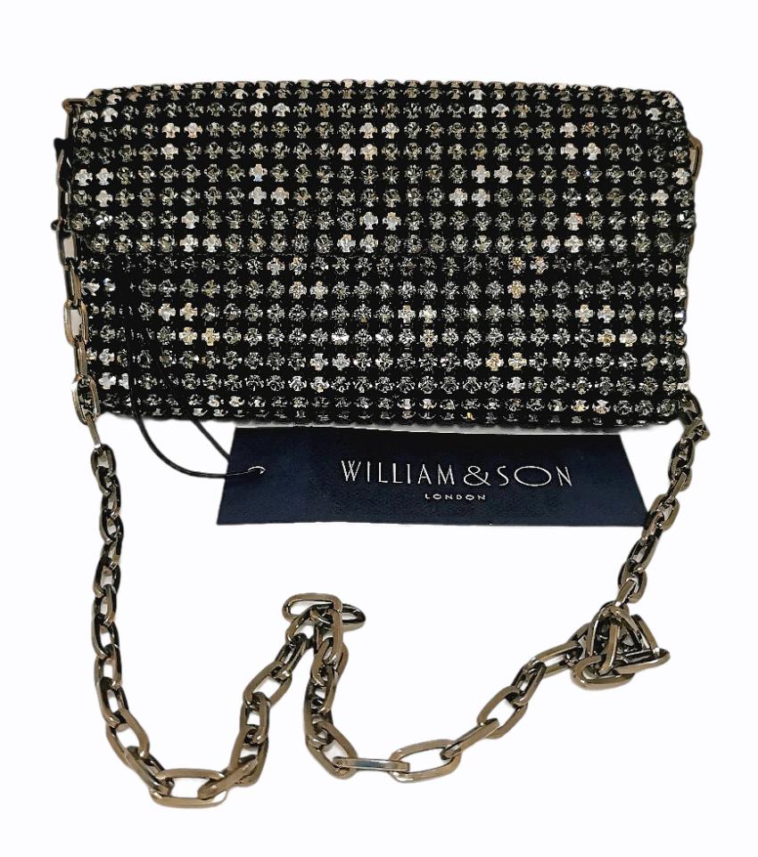 William & Son Crystal Embellished Shoulder Bag