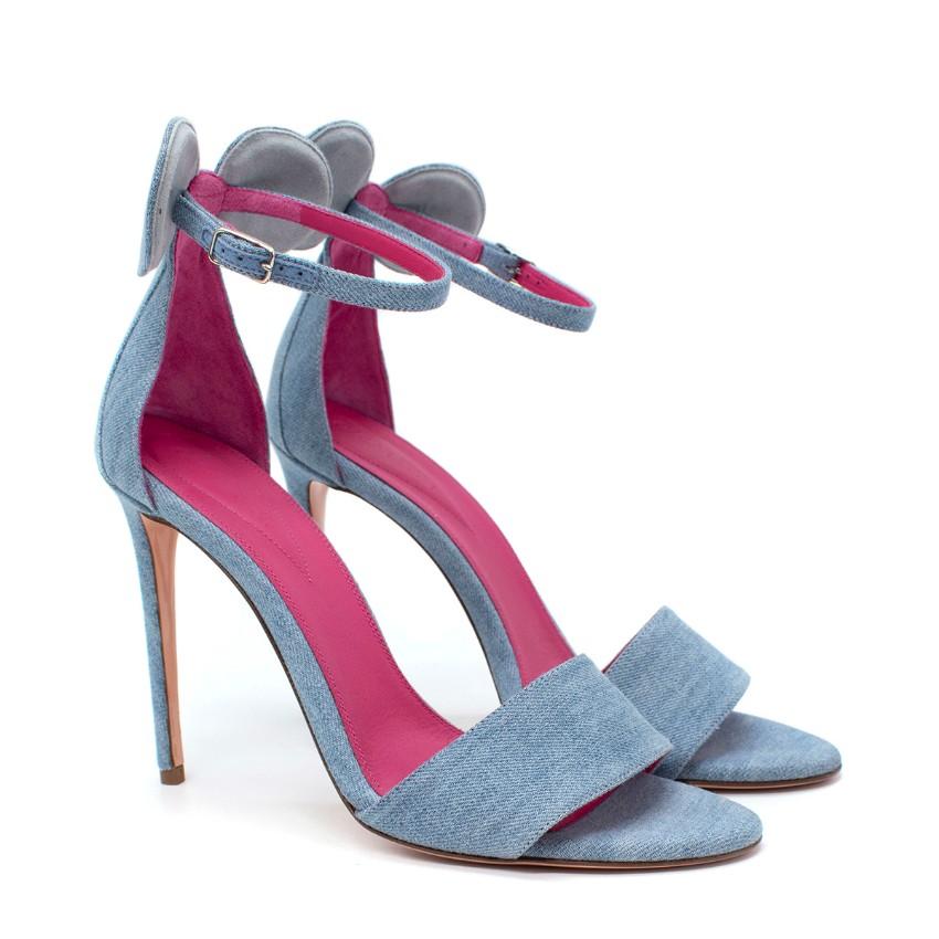 Oscar Tiye Blue Denim Minnie Sandals