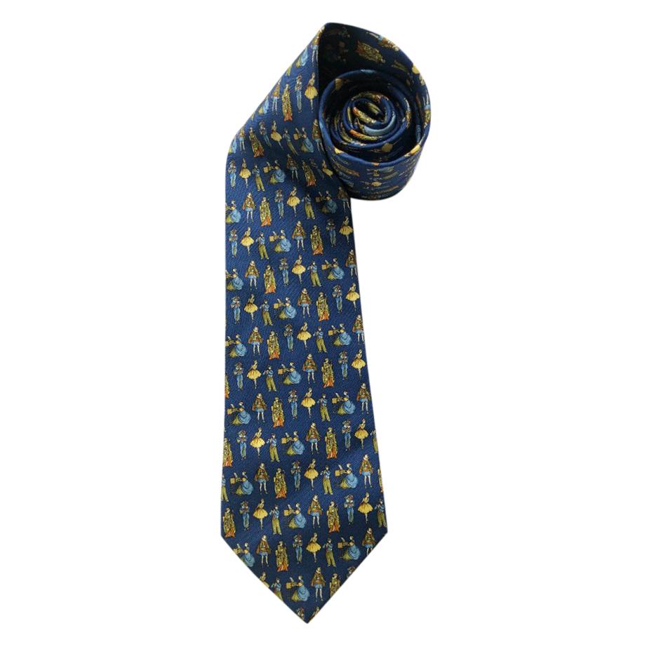 Ferragamo For Anderson Consulting Silk Printed Tie