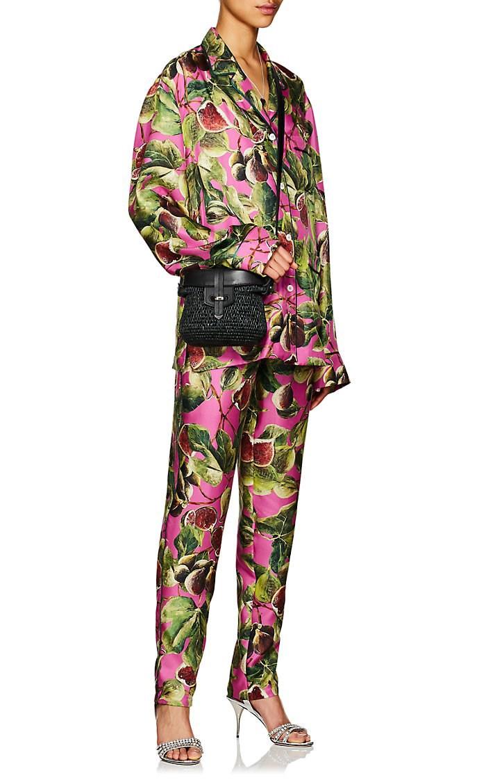 Dolce & Gabbana Fig Print Silk Twill Pyjama Set
