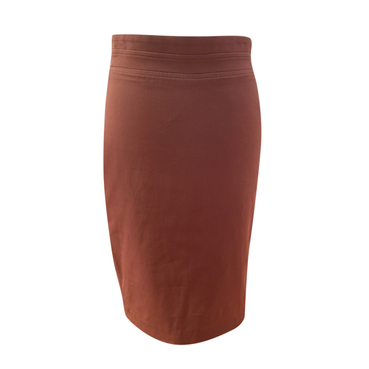 Brunello Cuccinelli Rose Brown Fitted Skirt