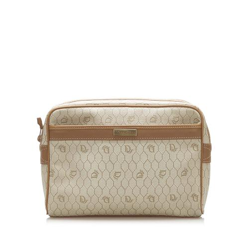 Dior Honeycomb Vintage Toiletry Bag/Pouch