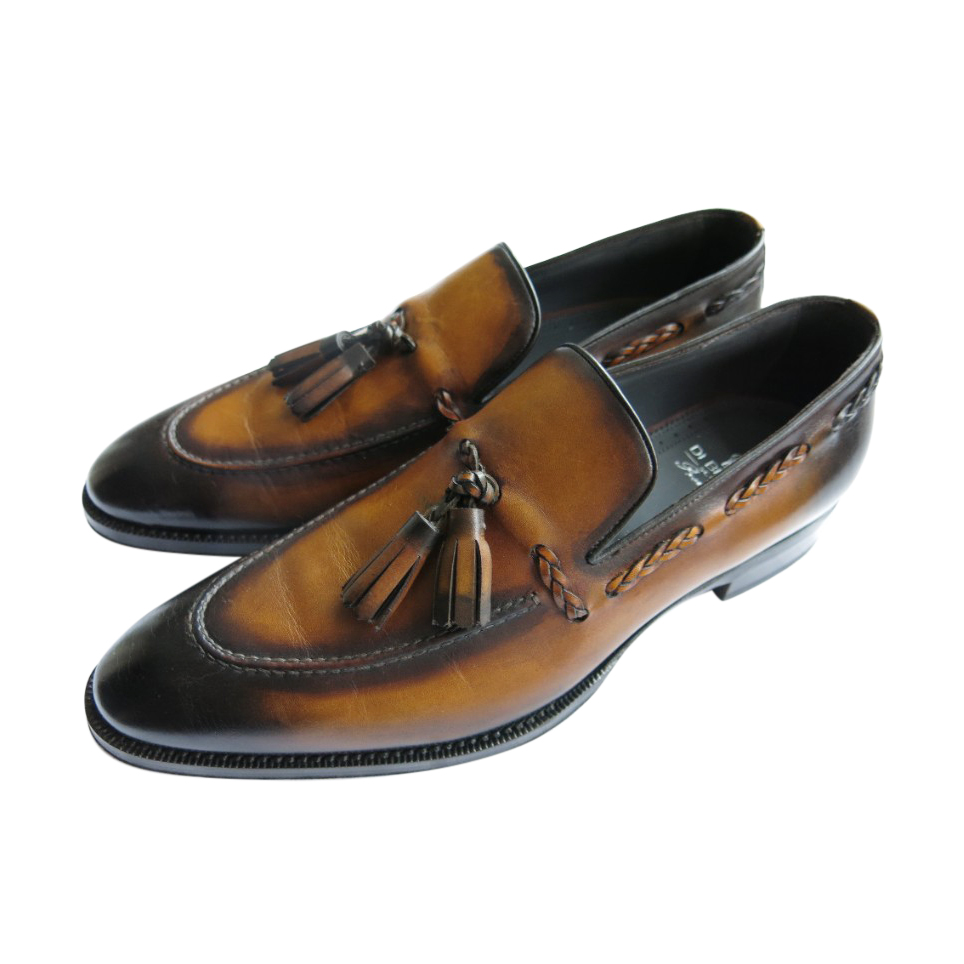 Di Bianco Antique Brown Tasselled Handmade Loafers