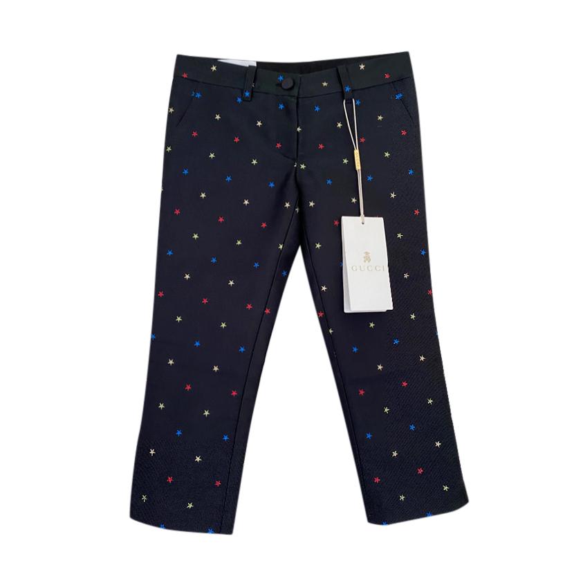 Gucci Kids 4Y Black Star Print Trousers