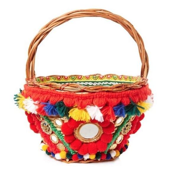 Dolce & Gabbana Agnese pompom-embellished basket bag