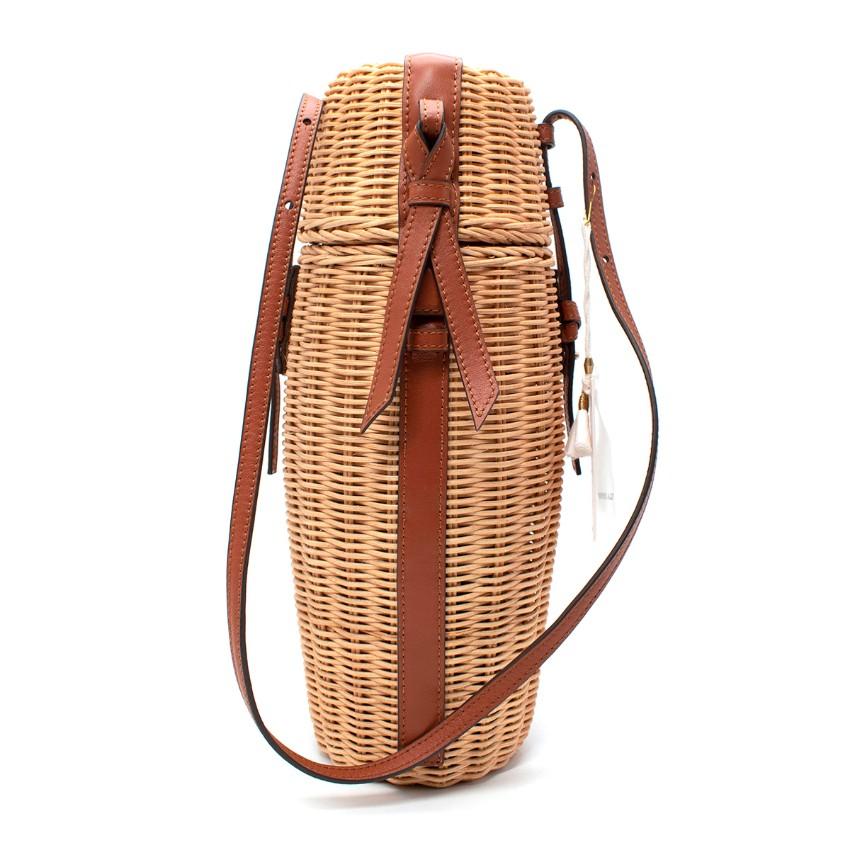 Ulla Johnson Natural Raffia Meadow Bottle Bag