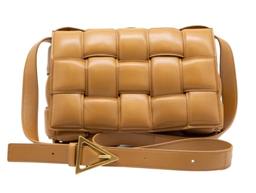 Bottega Veneta Caramel Padded Cassette Shoulder Bag