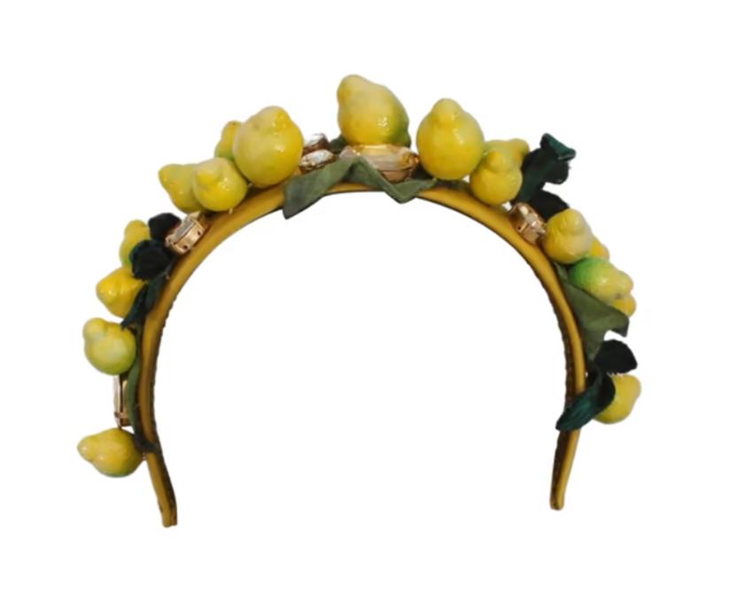 Dolce & Gabbana Lemon & Crystal Headband