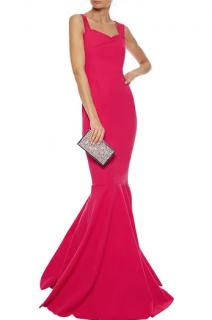 Roland Mouret for Harrods Fluted Pink Gown