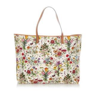Gucci Flora Large Canvas Tote Bag
