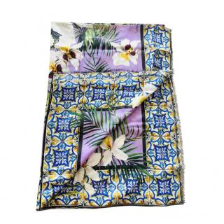 Dolce & Gabbana Tropical Majolica Print Pareo/Scarf