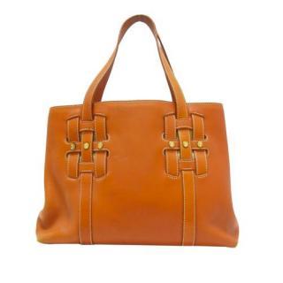 Celine Tan Leather Handbag