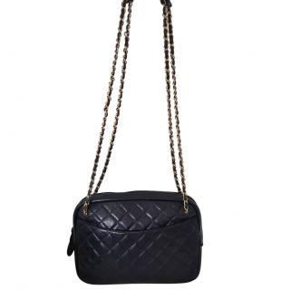 Chanel VIntage Lambskin XL Camera Crossbody Bag