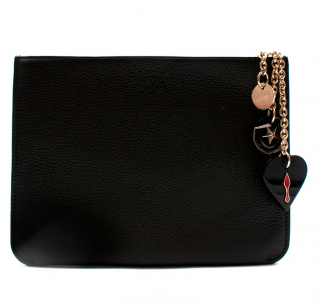 Christian Louboutin Black Grained Leather Clutch