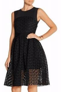 Maje Black Lace Sleeveless Dress