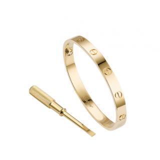 Cartier 18kt Yellow Gold Love Bracelet - Size 17