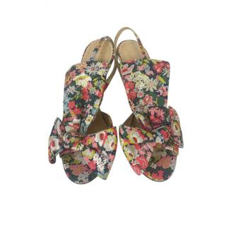 Charlotte Olympia Floral Print Sandals