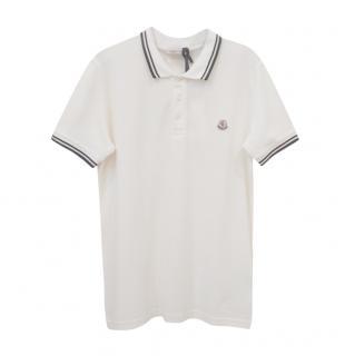 Moncler White Kids 14A Polo Shirt