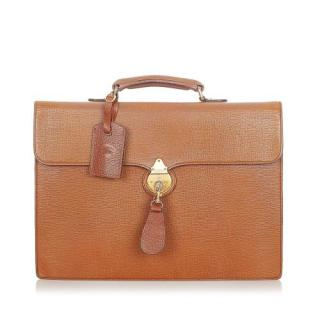 Burberry Brown Leather Briefcase