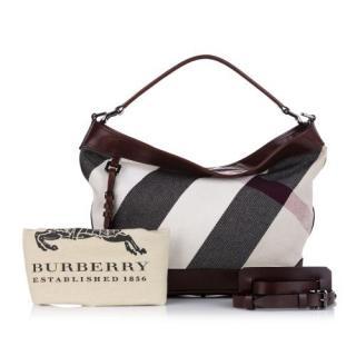 Burberry Mega Check Canvas Tote Bag