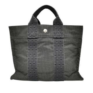 Hermes Grey Herline Canvas PM Tote Bag