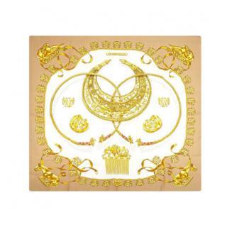 Hermes Les Cavaliers d'Or Silk Scarf 90