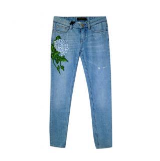 Dolce & Gabbana Hortensia Detail Jeans